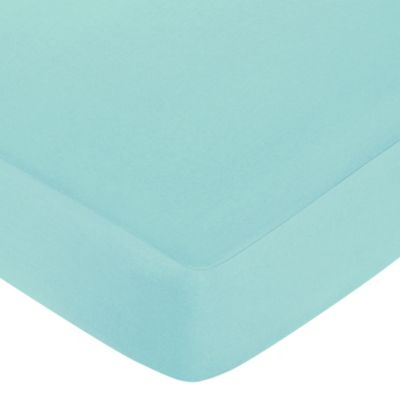 Sweet Jojo Designs Zig Zag Crib Sheet in Turquoise