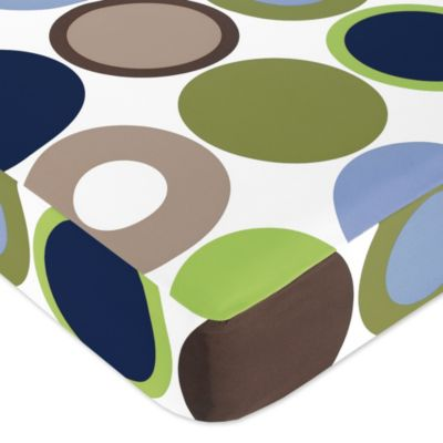 Sweet Jojo Designs Designer Dot Fitted Crib Sheet