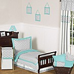Sweet Jojo DesignsZig Zag Bedding Collection in Turquoise/Grey