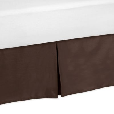 Sweet Jojo Designs Designer Dot Collection Toddler Bed Skirt in Chocolate Brown