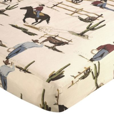 Sweet Jojo Designs Wild West Fitted Crib Sheet in Cowboy Print