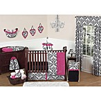 Sweet Jojo Designs Isabella Crib Bedding Collection in Hot Pink/Black/White