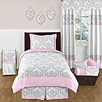 Sweet Jojo Designs Elizabeth Comforter Set in Pink/Grey