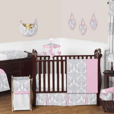 Sweet Jojo Designs Elizabeth 11-Piece Crib Bedding Set in Pink/Grey