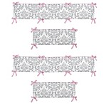 Sweet Jojo Designs Elizabeth Crib Bumper in Pink/Grey