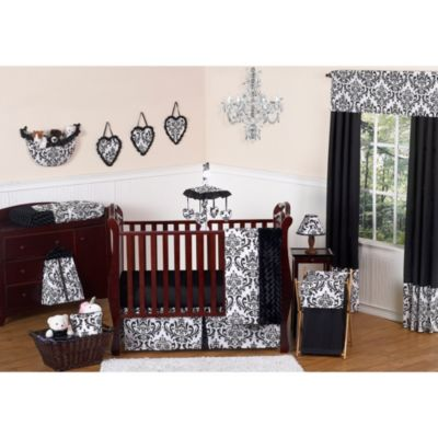 Black White Crib Bedding