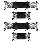 Sweet Jojo Designs Isabella Crib Bumper in Black/White
