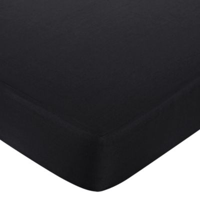 Sweet Jojo Designs Isabella Fitted Crib Sheet in Black