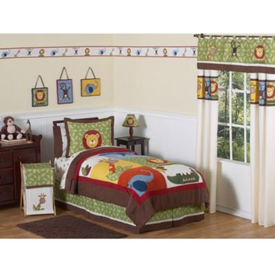Sweet Jojo Designs Jungle Time Bedding Collection > Sweet Jojo Designs Jungle Time Standard Pillow Sham