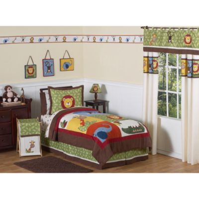 Sweet Jojo Designs Jungle Time Twin 4-Piece Bedding Set