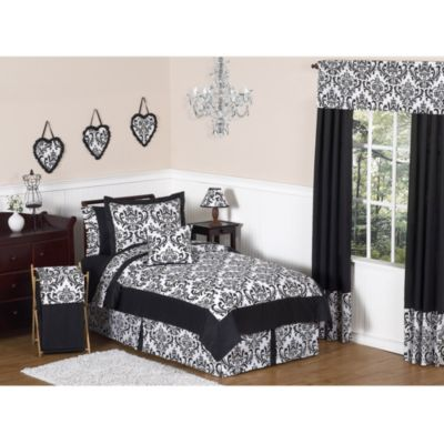 Isabella Pillow Sham in Black/White