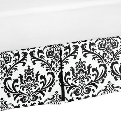 Isabella Bed Skirt in Black/White
