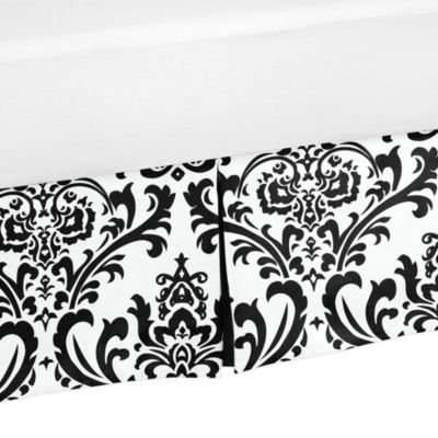 Isabella Toddler Bed Skirt in Black/White