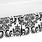 Sweet Jojo Designs Isabella Toddler Bed Skirt in Black/White