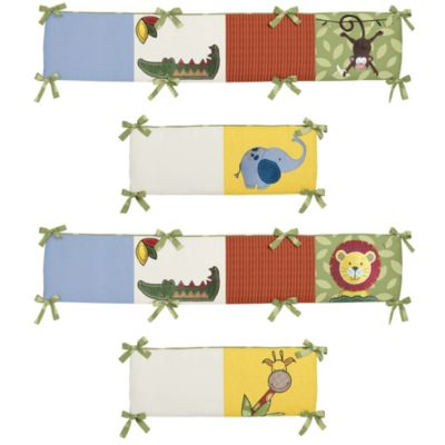 Sweet Jojo Designs Jungle Time Crib Bumper