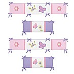 Sweet Jojo Designs Butterfly Crib Bumper in Pink/Purple