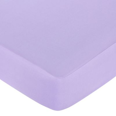 Sweet Jojo Designs Butterfly Fitted Crib Sheet in Purple
