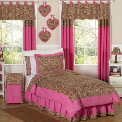 Sweet Jojo Design Cheetah Girl Standard Pillow Sham