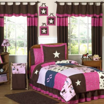Sweet Jojo Designs Cowgirl 3-Piece Full/Queen Comforter Set