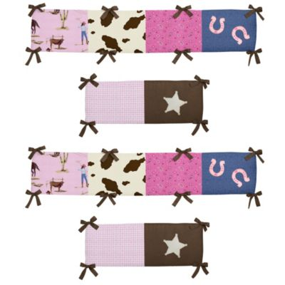 Sweet Jojo Designs Cowgirl 4-Piece Crib Bumper Set