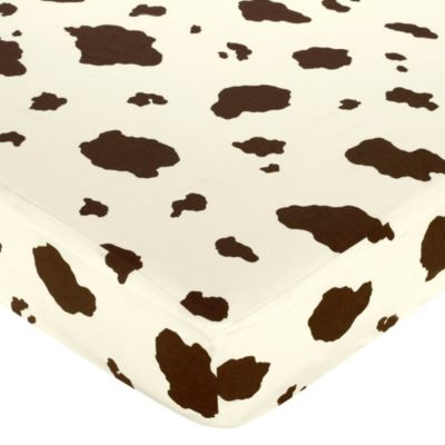 Sweet Jojo Designs Cowgirl Fitted Crib Sheet in Cow Print