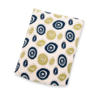 Blue Circle Crib Sheets