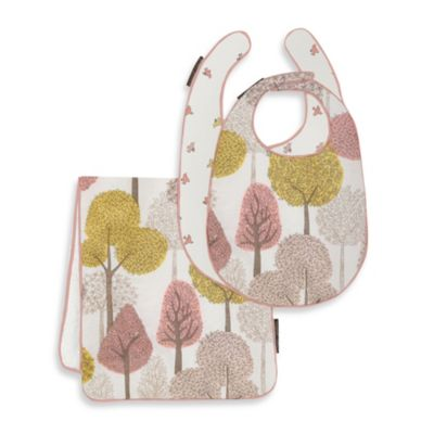 DwellStudio® Treetops Petal Bib/Burp Set