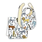 DwellStudio® Bib and Burp Set in Safari