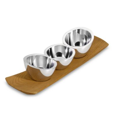 Nambe Trio Condiment Set