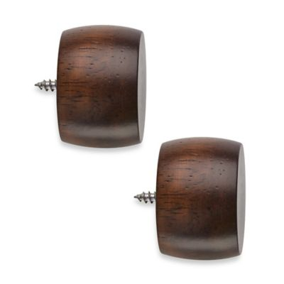 Cambria® Classic Wood End Cap in Dark Brown (Set of 2)