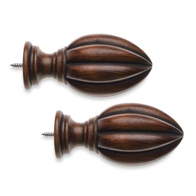 Dark Brown Fluted Finial