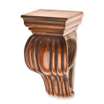 Cambria® Classic Wood Drapery Sconce in Medium Brown