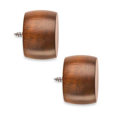 Cambria® Classic Wood End Cap in Medium Brown (Set of 2)