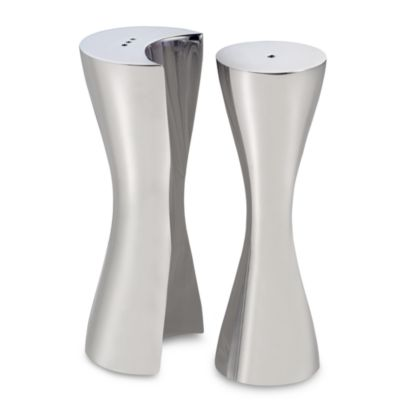 Nambe Hug Salt and Pepper Shakers