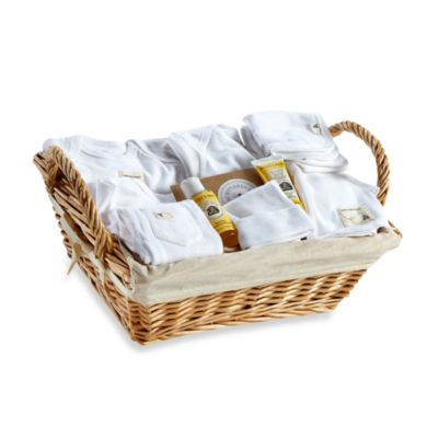 Burt's Bees Baby® Organic Cotton Size 6-9M Welcome Home 10-Piece Gift Basket in Cloud