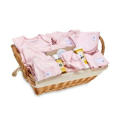 Burt's Bees Baby Organic Cotton Welcome Home Gift Basket in Blossom