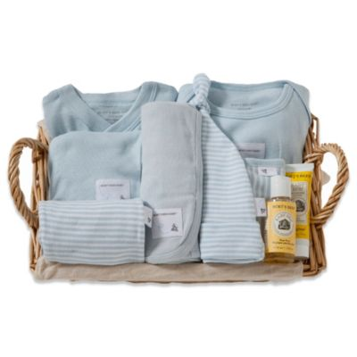 Burt's Bees Baby™ Size 6-9M Take Me Home Gift Basket in Sky