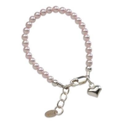Cherished Moments Serenity 2 Sterling Silver and Pink Pearl Bracelet