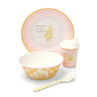Bunnies by the Bay Don't Quack 4-Piece Melamine Dish Set