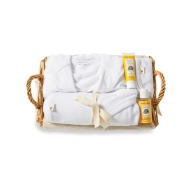 Burt's Bees Baby® Organic Cotton 9M Better Bath Time Basket in Cloud