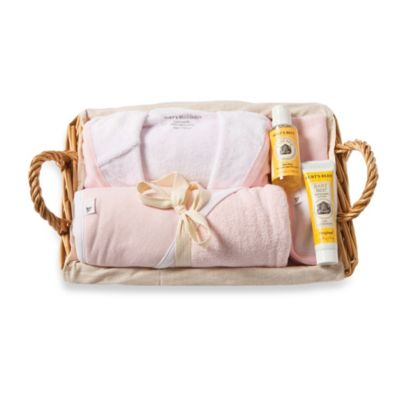 Burt's Bees Baby® Organic Cotton Better Bath Time Basket in Blossom
