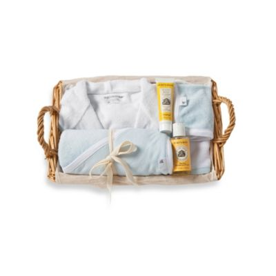Burt's Bees Baby® Organic Cotton Better Bath Time Basket in Sky