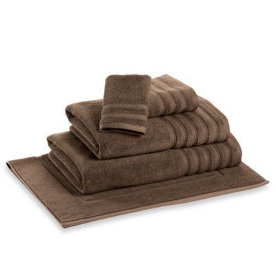 DKNY Luxe Bath Towel in Brown