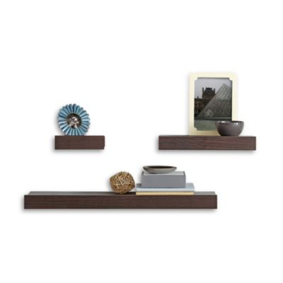 Real Simple® Decorative Shelves in Espresso (Set of 3)