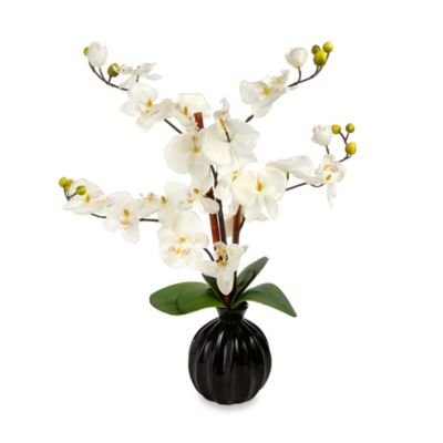 Artificial Orchid in Ceramic Pot