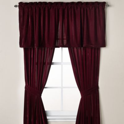 Velvet Window Panel Pair in Bordeaux