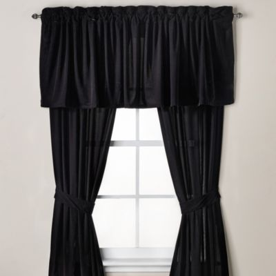 Velvet Window Valance in Black