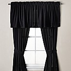 Velvet Window Valance in Black