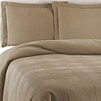 Traditions Linens Farrah Standard Pillow Sham in Khaki