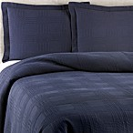 Traditions Linens Farrah Standard Pillow Sham in Navy